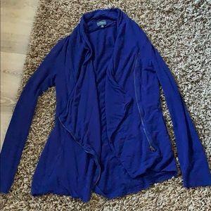 Market & Spruce asymmetrical zip cardigan